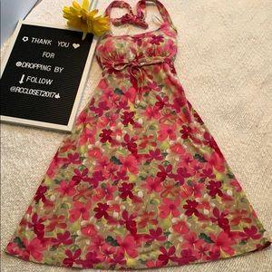 Denver Hayes Halter Floral Dress-XS
